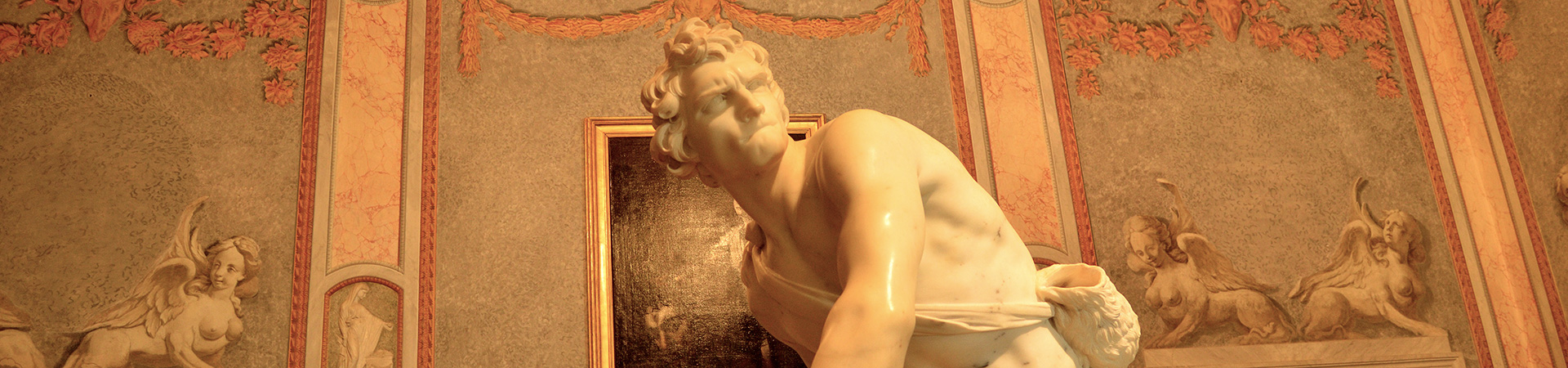 Statue of David by Bernini, Borghese Gallery, Rome
