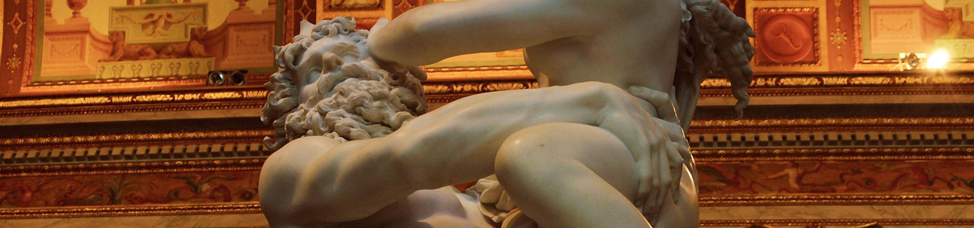 masterpiece of Gian Lorenzo Bernini, Rape of Proserpine, Borghese Gallery, Rome