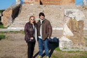 ana and daniel, ostia antica tour in english
