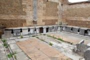 ancient toilet in ostia antica