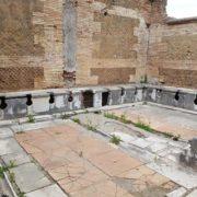 ancient toilet in ostia antica