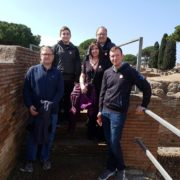 our small group on tour of ostia antica