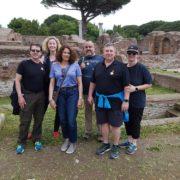 on the tour of ostia antica with dmitri