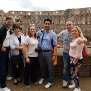 our small group on the tour of colosseum rome