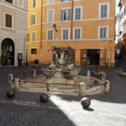 fountain in jewish ghetto in rome