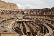 inside the colosseum with more of rome