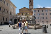 in the heart of trastevere in Rome