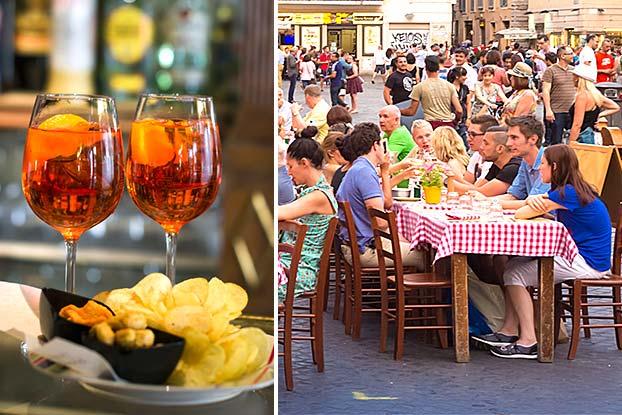 aperitivo tour of rome
