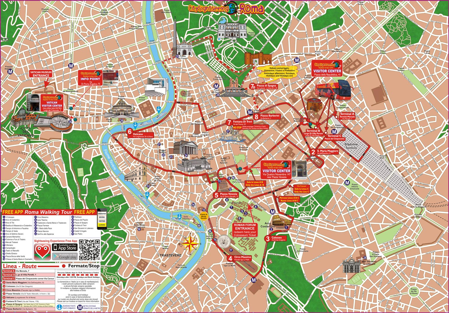 Hop On Hop Off Bus Tours In Rome Italy