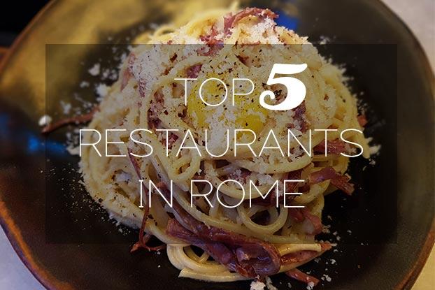 top 5 restaurants in rome