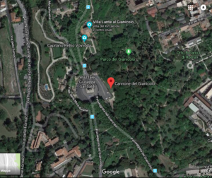 map to Janiculum hill