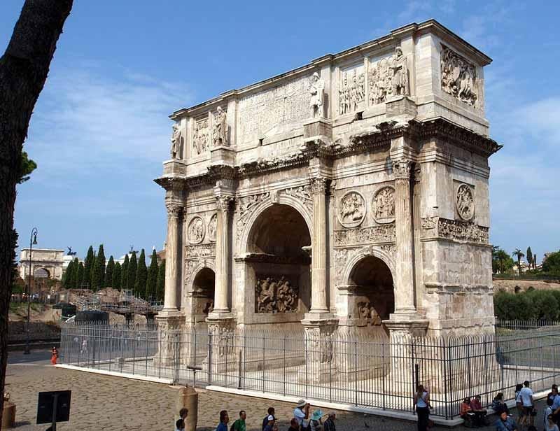 triumphal arch of constantine rome