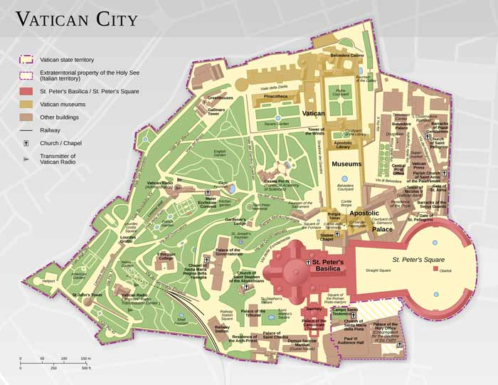 map of vatican