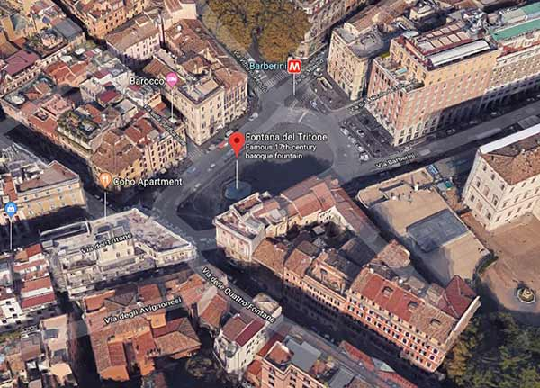 meeting point for morning walking tour of rome