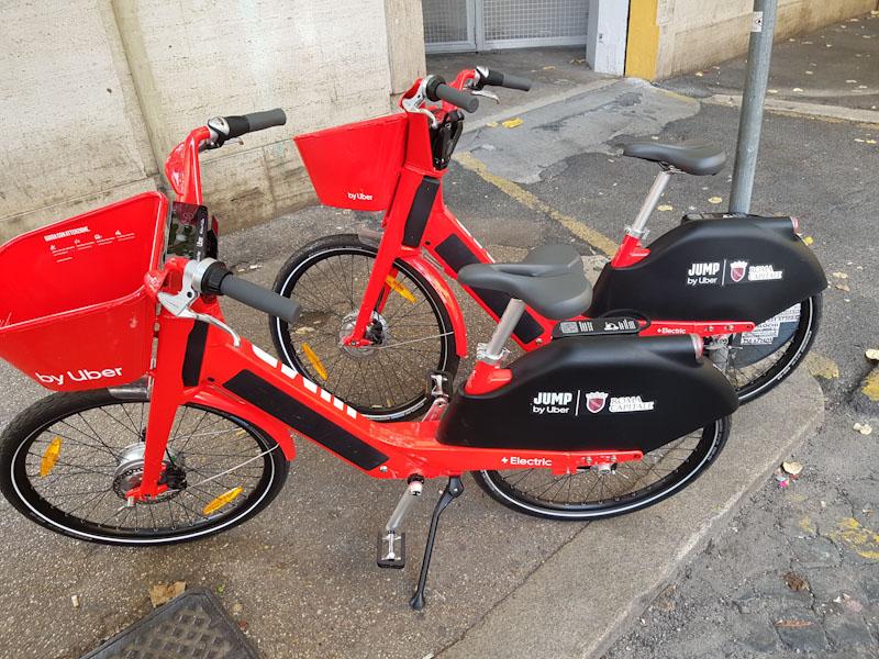 jump uber electric bike sharing in rome