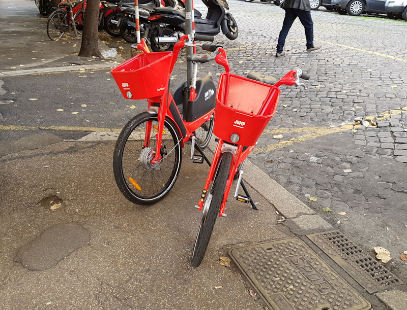 Uber electric bike sharing