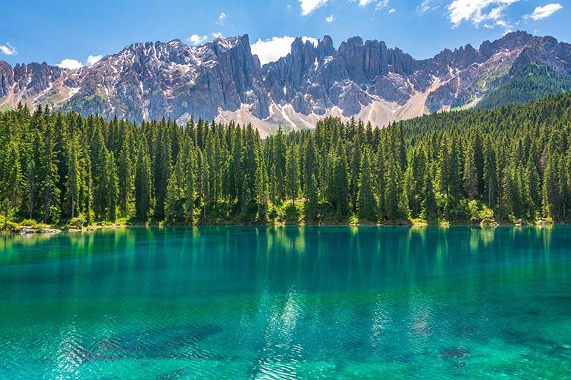mountain lake italy