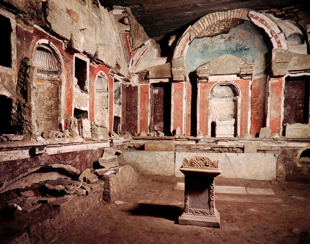 ancient pagan cemetery (catacombs) beneath the vatican
