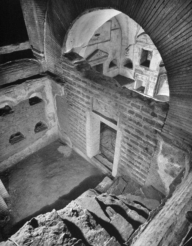 pagan catacombs beneath the saint peter's basilica, vatican