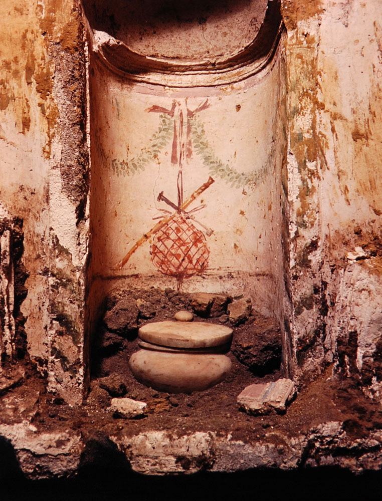 marble urn uncovered during the excavation
