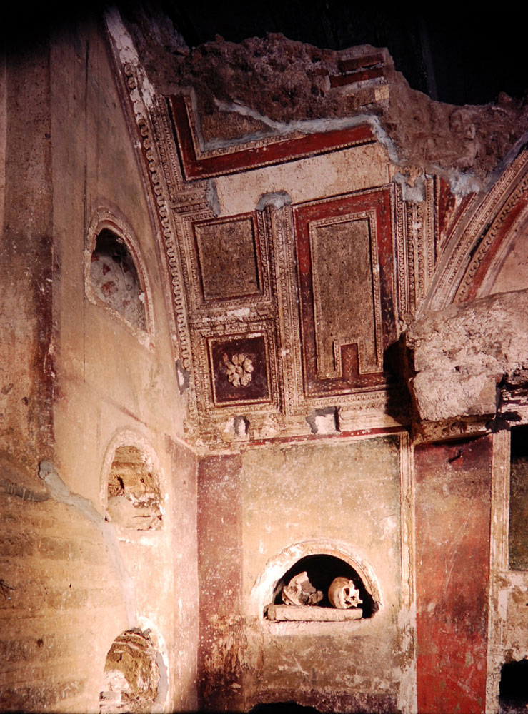 some of the frescoes have been preserved